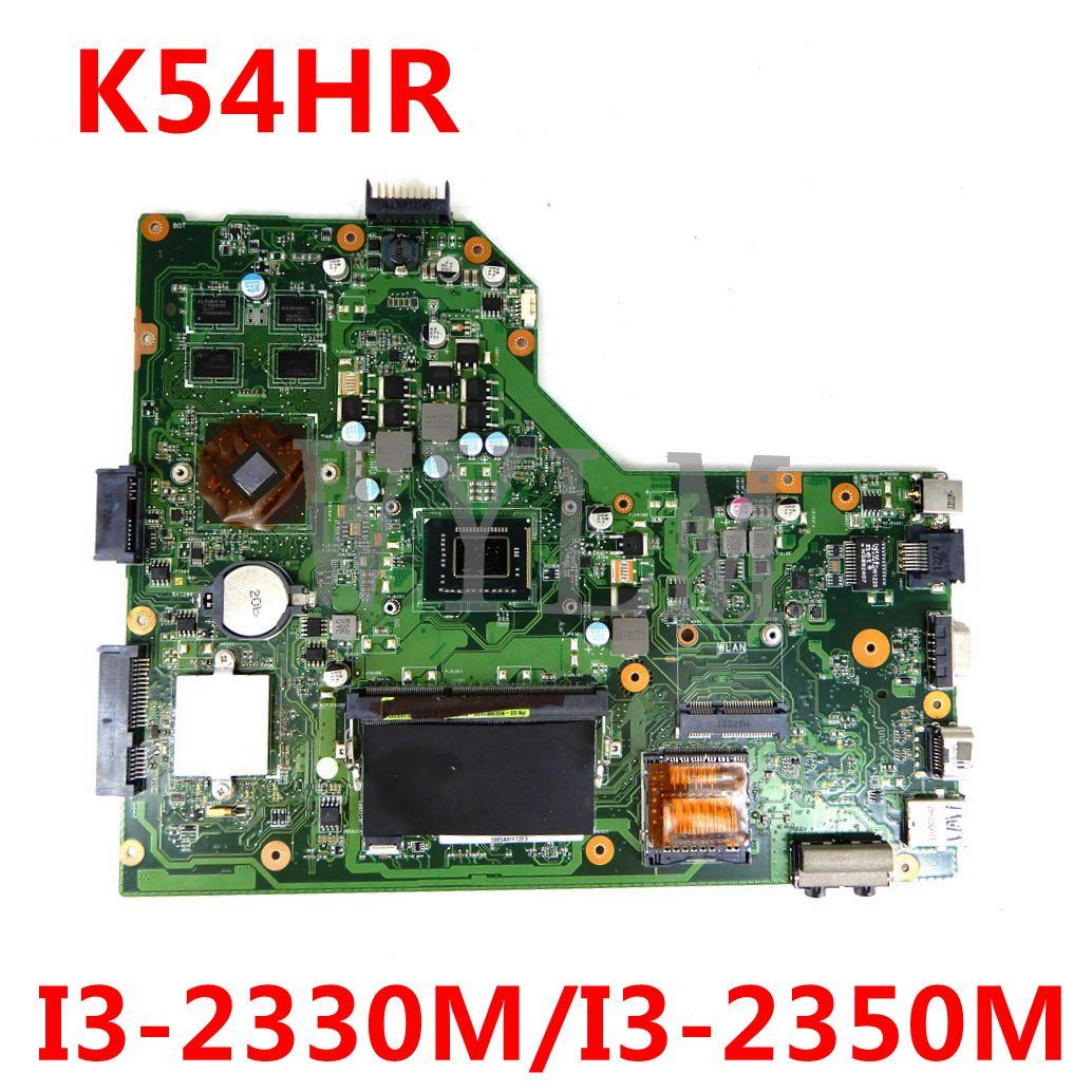 K54HR اللوحة ل ASUS K54LY K54HR X54H X54HR اللوحة المحمول 1GB HM65 I3-2330M/I3-2350M اختبار 100% العمل الأصلي