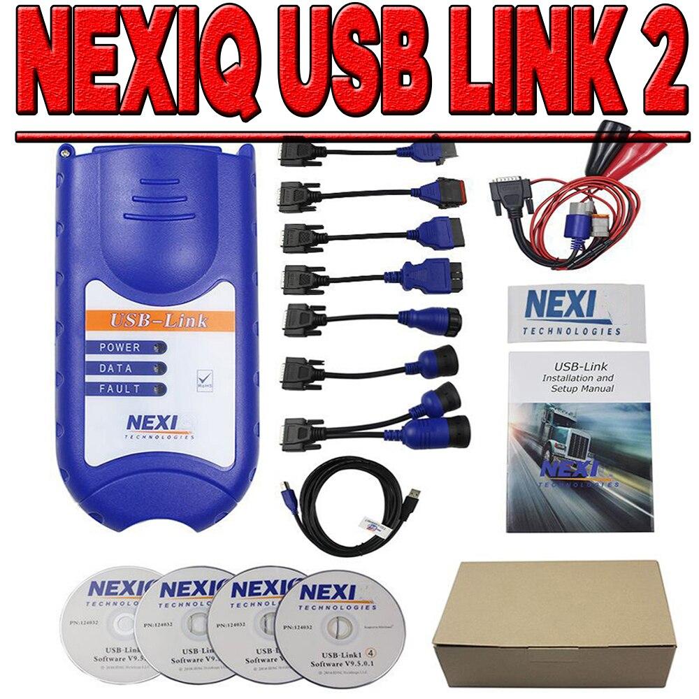 NEW USB Bluetooth Diesel Truck Diagnostic Tool Truck OBD Fault Diagnostics Detector for NEXIQ USB Link Truck Diagnostic Scanner
