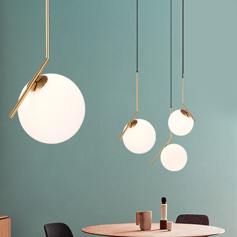 Modernas lámparas colgantes con bolas de cristal para el hogar, comedor, sala de estar, dormitorio, lámpara para colgar, accesorios de decoración de restaurante, AC85-240V de iluminación