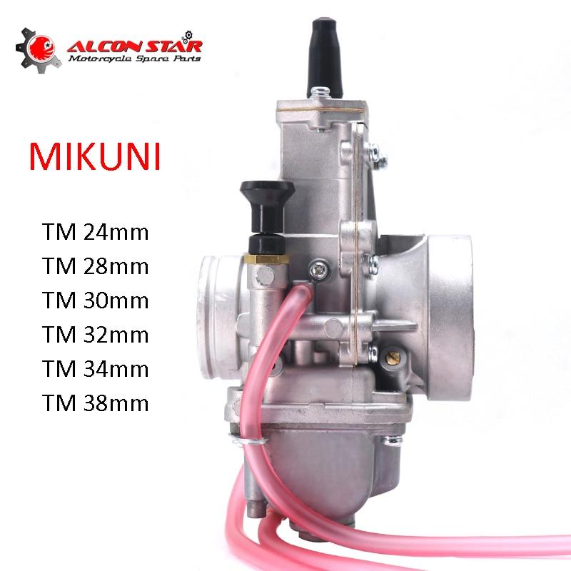 Alconstar- Mikuni TM24 TM28 TM30 TM32 TM34 TM38mm دراجة نارية Flachschieber Vergaser TM سلسلة لكاواساكي KX125 KX150 CR250