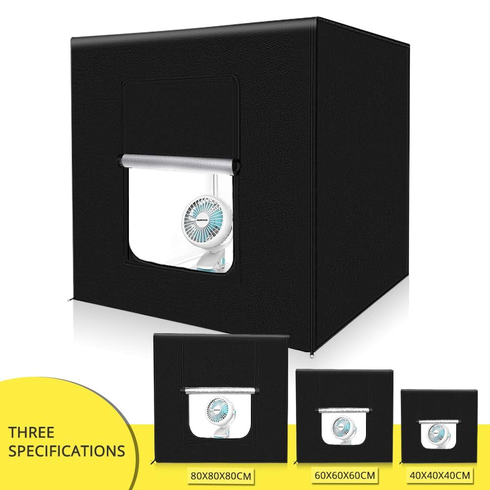 Travor 40 60 80 سنتيمتر LED صندوق إضاءة صور خيمة مع 3 ألوان خلفية علبة الصور استوديو الصور للتصوير استوديو