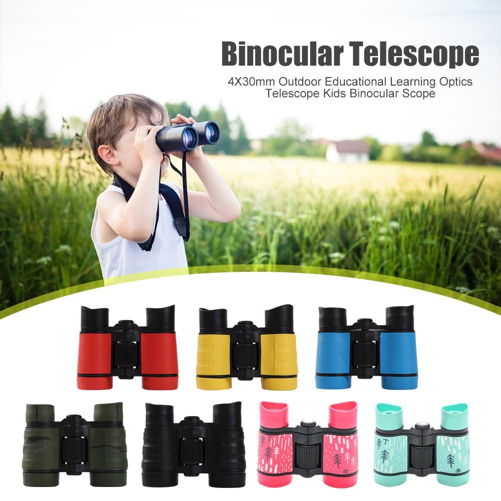 4X30mm Powerful Binoculars Outdoor Children Educational Learning Optics Telescope Kids Binocular Scope Folding Optics Telescope