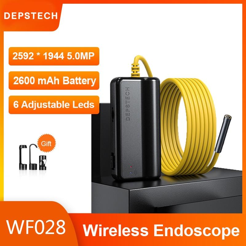 Эндоскоп с Wi-Fi и Камера 1944P с одним объективом/1080P Двойной объектив Беспроводной инспекции Камера бороскоп эндоскоп для автомобилей Android IOS
