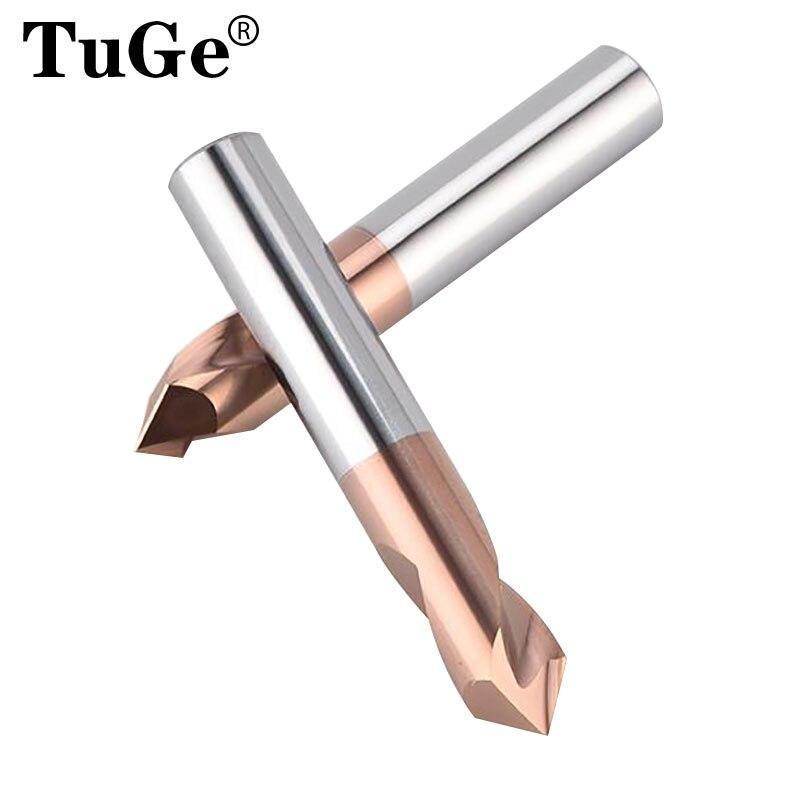 Tuge marca alta qualidade ferramentas de perfuração cnc hec55 tungstênio fresas de extremidade aço cimentado carboneto centrando broca piloto brocas