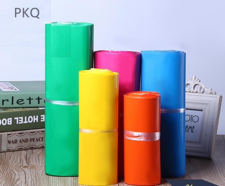 Sobres de envío poliéster coloridos, bolsas de envío de tamaño pequeño, bolsas autoadhesivas para correo Postal, bolsas de mensajería