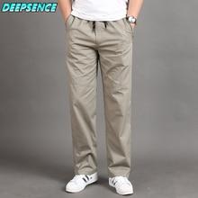 Men Casual Cargo Pants Four Seasons 95% Cotton Men Trousers Multi Pockets Loose Straight Jogging Pan