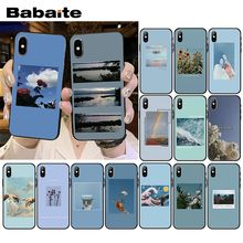 Babaite blau Rosa Ästhetik songs texte Ästhetischen Telefon Fall für iPhone XR 11 Pro XS MAX 8 7 6 6S Plus X 5 5S SE