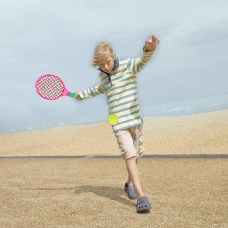 Raqueta para tenis de playa, raqueta de tenis para deportes al aire libre para niños con pelota de bádminton rosa