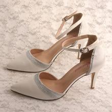 Chaussures à talons pointus   Acheter en ligne, chaussures de travail à talons avec lanière à la cheville