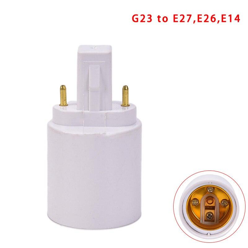 Converters G23 To E27 E26 LED Halogen CFL Light Bulb Lamp Adapter Fireproof Socket Plug Extender Screw Base Holder