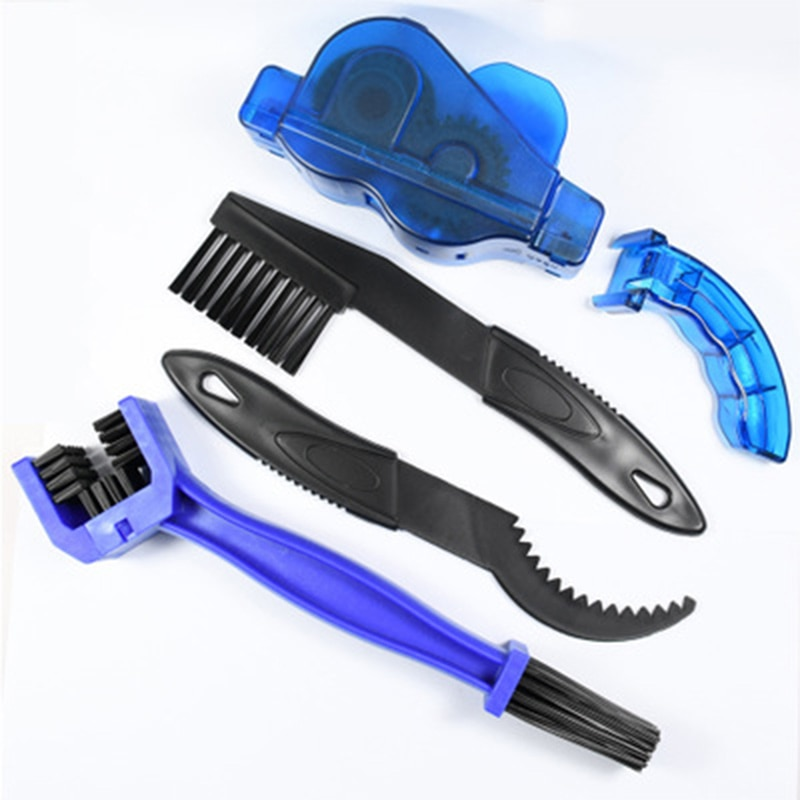 A set Mountain Cycling Cleaning Kit Portable Bicycle Chain Cleaner Bike Brushes Scrubber Wash Tool O