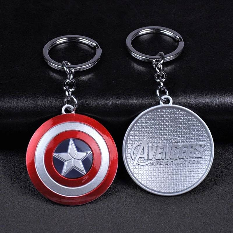 Marvel Avengers Captain America Shield Key Chains Alloy Keychain Keyring