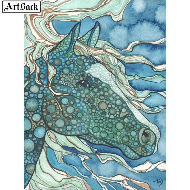 5d diamante pintura caballo acuarela cuadro diamante bordado cuadrado completo diamante mosaico 3d pegatina decoración del hogar