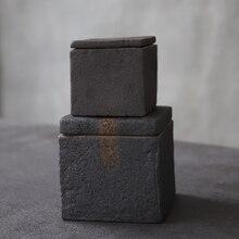 LUWU schwarz keramik tee caddies porzellan gläser und behälter lagerung tee oder lebensmittel