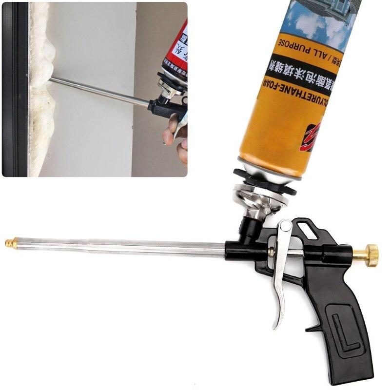 Arma de espuma de pulverizador manual do plutônio resistente boa isolação diy aplicador profissional arma de espuma