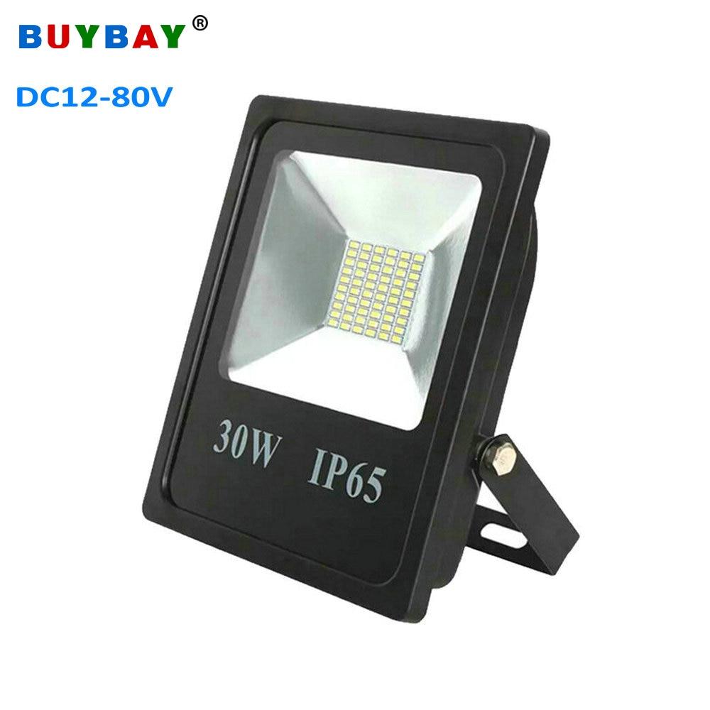 BUYBAY 10W 20W 30W 50W LED Floodlight DC12V 24V 80V Brand Outdoor Lighting Projector Reflector lamp Ship Boat yacht Flood Light