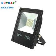 Buybay 10 w 20 30 50 led projector dc12v 24 v 80 marca ao ar livre iluminação projetor refletor lâmpada navio barco iate luz de inundação