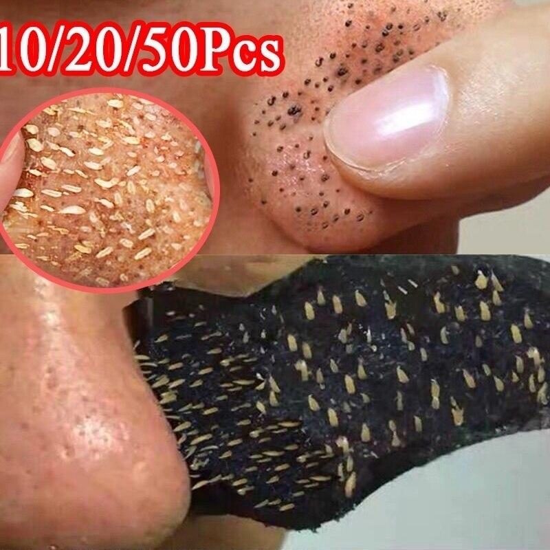 5-50pcs Nose Blackhead Remover Mask Deep Cleansing Skin Care Shrink Pore Acne Treatment Mask Nose Bl
