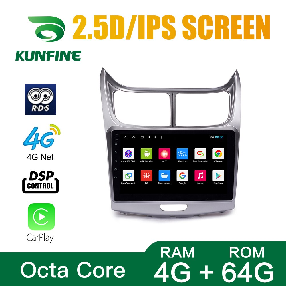 Octa Core Android 10.0 Car DVD GPS Navigation Player Deckless Car Stereo for Chevrolet SAIL 04-13/15-18 Radio Headunit