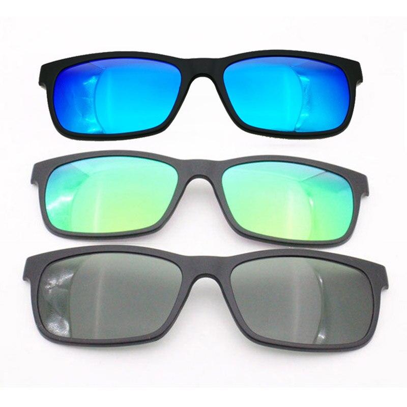 Lentes de sol rectangulares polarizados TAC de un solo clip, modelo No 006 para miopía, hipermetropía, gafas con clip extra