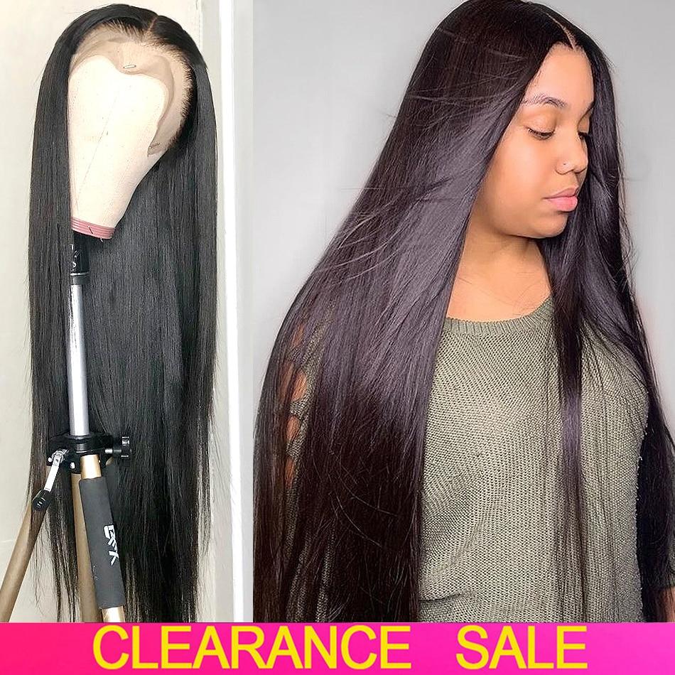 Bone Straight Human Hair Wig Transparent Lace Frontal Wigs Brazilian Hair Wig Straight Lace Front Human Hair Wigs For Women
