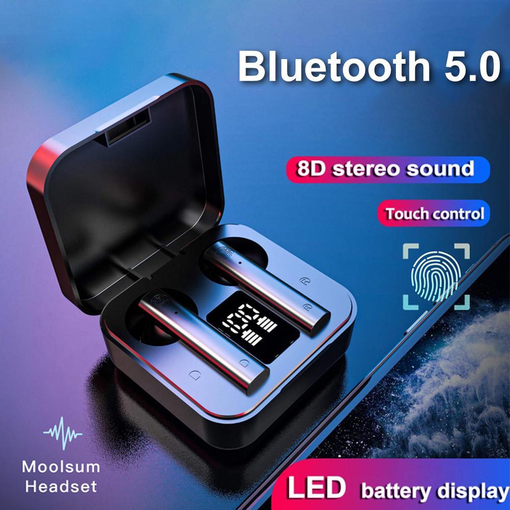 Беспроводные наушники Air2S TWS Bluetooth 5,0 беспроводной цифровой дисплей в ухо спортивные наушники Мобильный телефон Аксессуары