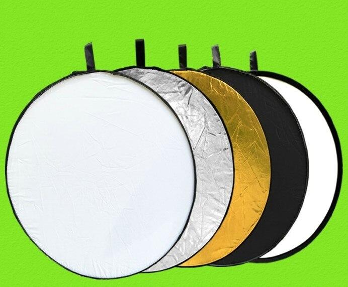 60/80/110cm 5 en 1 redondo círculos múltiples disco plegable Reflector de luz difusor para Flash foto estudio fotografía