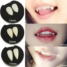 1pair Halloween Cosplay Party Devil Vampire Teeth Fangs Dentures Props Costume Props Holiday Party S