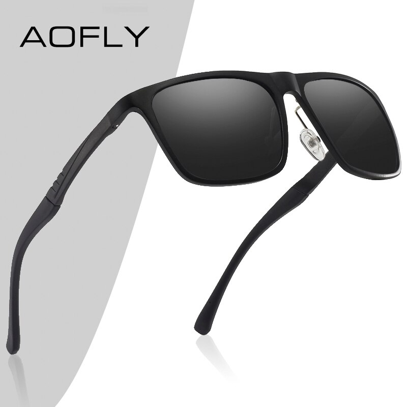 AOFLY BRAND DESIGN Aluminum magnesium Polarized Sunglasses Men 2020 Fashion Square Driving Fishing Mirror Sun glasses Male UV400