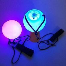 1 paire de balles de danse sur le ventre   RGB lueur, balles brossées pour accessoires à la main de danse du ventre, accessoires pour performance sur scène