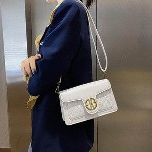 2021 Spring and Summer New Messenger Bag Fashion Crocodile Pattern Shoulder Bag Yellow Shoulder Bag Female Bag Wallet Handbags