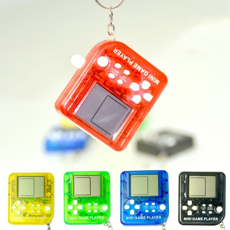 1 шт. мини-консоль портативная ретро-тетрис портативная игровая консоль портативная игровая приставка с ЖК-экраном подарки для детей