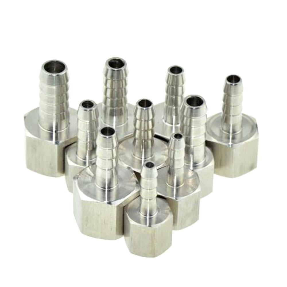 6mm 8mm 10mm OD espiga para manguera hilo femenino recto 304 tubo de acero inoxidable accesorio lengüeta cola de la manguera conector