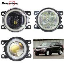 2 Pieces Car Front Fog Lamp LED Halo Ring Angel Eye Daytime Running Light DRL 12V For 2005-2015 Suzuki Grand Vitara 2/II JT