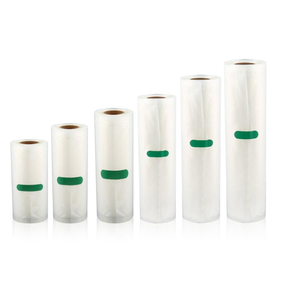 500cm 1 rollo de bolsa de envasado al vacío de alimentos para alimentos al vacío para mantener frescos bolsa de carga larga 12/15/17/20/22/25cm Envío Directo