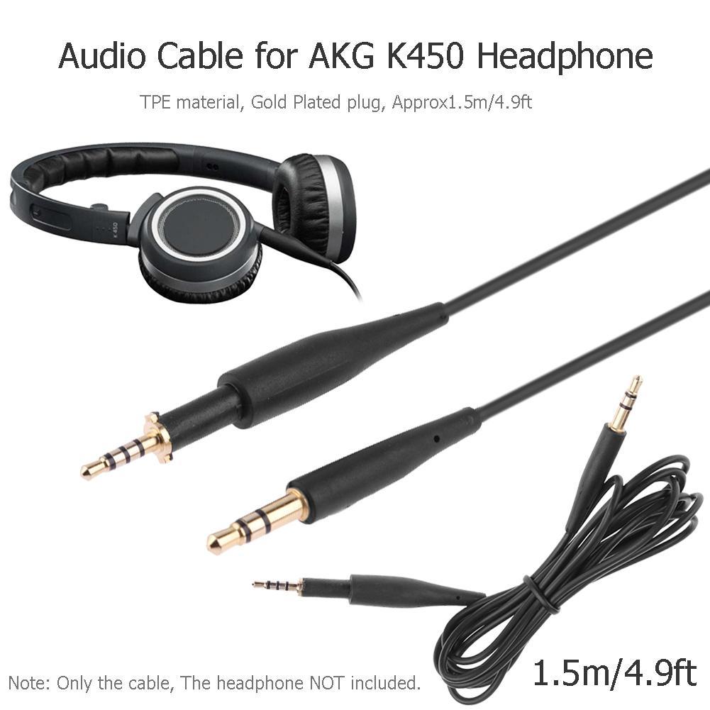 Cable de extensión de Audio para auriculares AKG K450 Q460 K480 K451,...