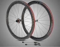 carbon fiber 50 knife carbon four bearing flower drum front 20 rear 24 hole c brake carbon ring wheel set bike wheel700diameter