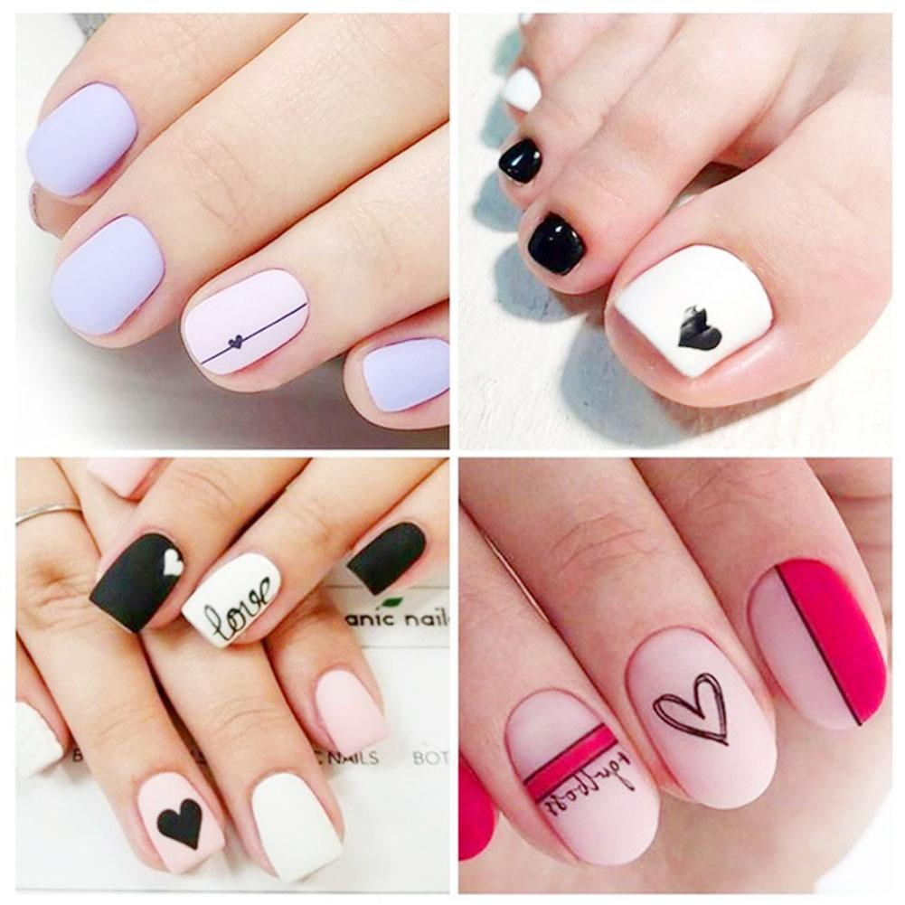 Flower Nail Stickers English Characters Fruits Red Not Easy Up Off Butterfly Nail To Stickers Dress Stickers Lip Fall Water H6U6