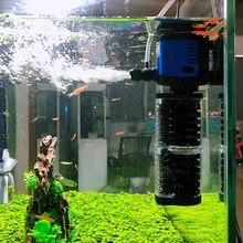3 In 1 Tauch Aquarium Filter Stille Sunsun Aquarium Wasserpumpe Interne Filter Welle Maker Schwamm Filter Luftpumpe 220V