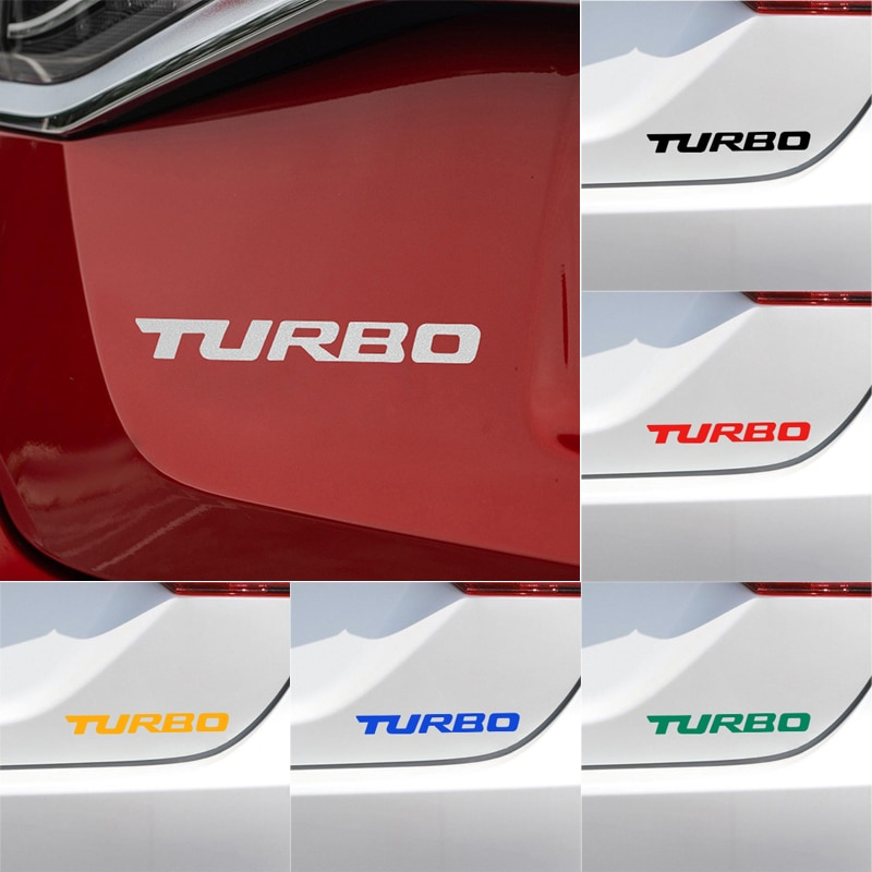 1 uds, pegatina TURBO para coche con letras, pegatina para Hyundai Tucson Solaris I30 Creta Ix35 I40 IX20 Veloster, accesorios para coche
