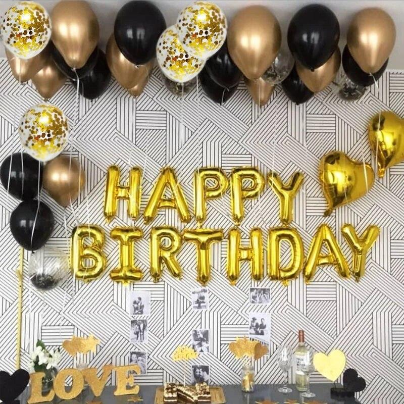 YOOAP счастливые Баннеры для дня рождения 18 дюймов поставка украшений для вечеринок буквенные фольга Воздушные шары баннеры для взрослых дет...