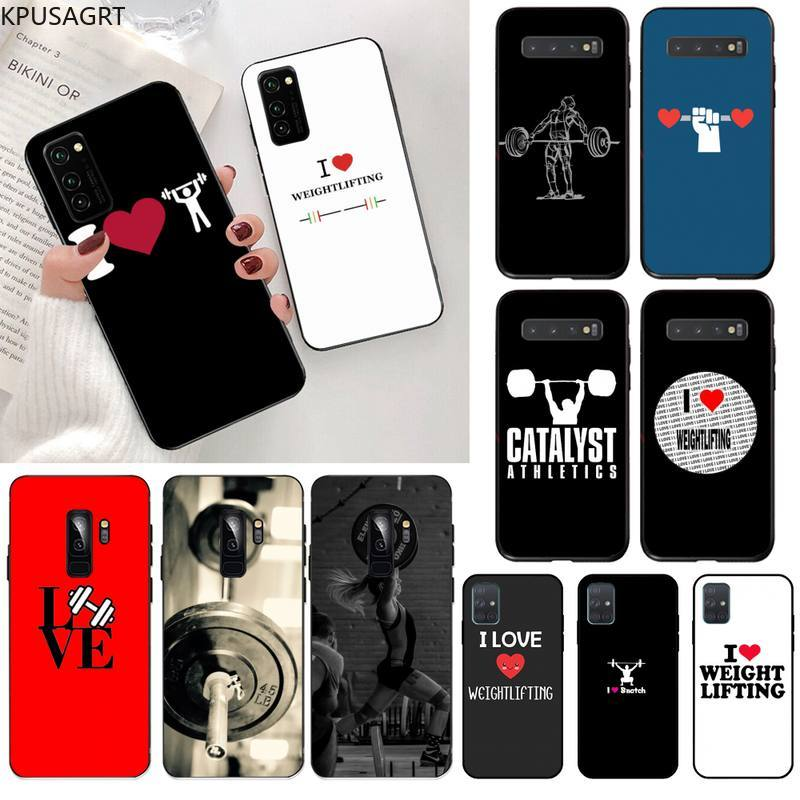 KPUSAGRT I love weightlifting Soft Phone Case Cover for Samsung S20 plus Ultra S6 S7 edge S8 S9 plus