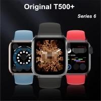 t500 smart watch series 6 bluetooth call heart rate monitor full touch screen men women sport smartwatch