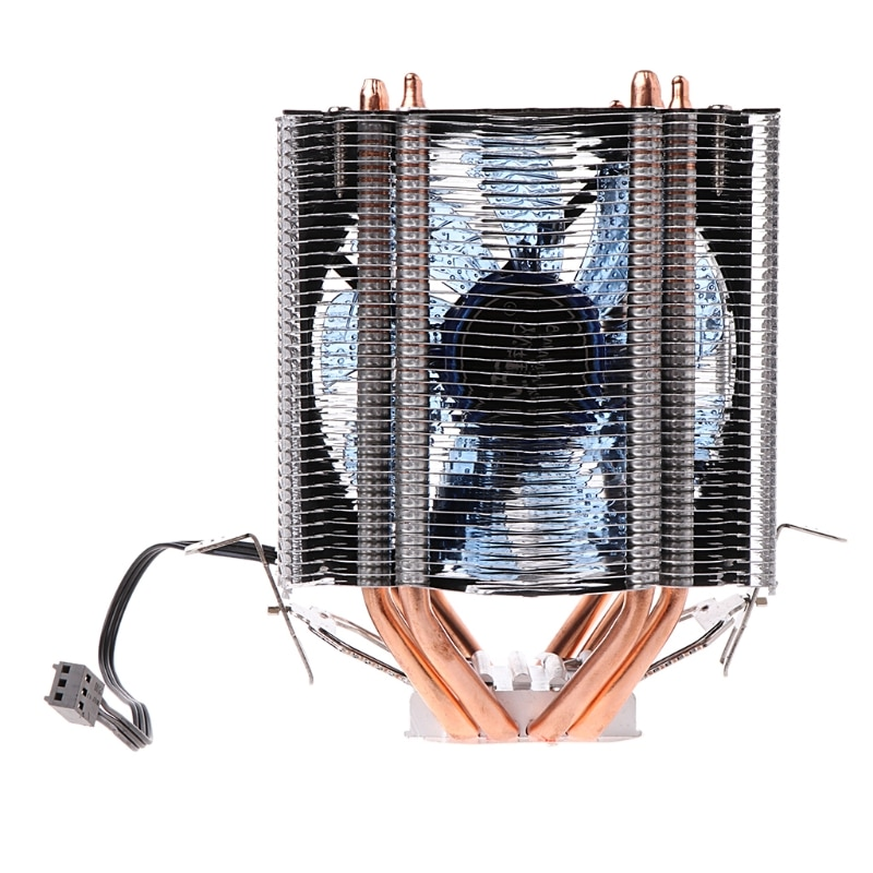 2021 New NoEnName_Null 4 Heatpipe 130W Red CPU Cooler 3-Pin Fan Heatsink for intel AM2 754  New