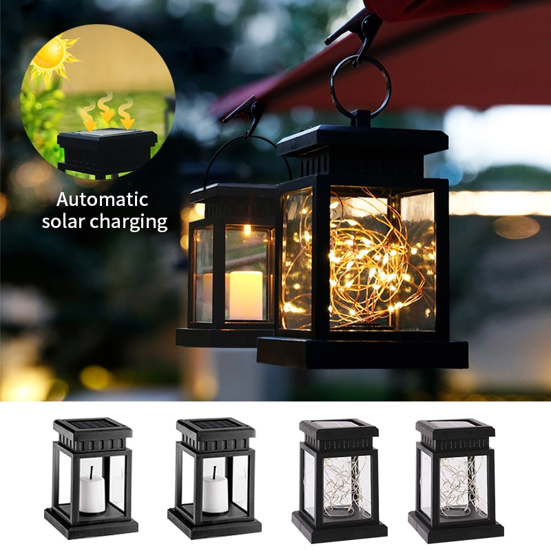 Solar Candle Lantern 1600MAH Outdoor Waterproof LED Solar Copper Wire Light Decorative Lamps For Outdoor Garden Park Decoration