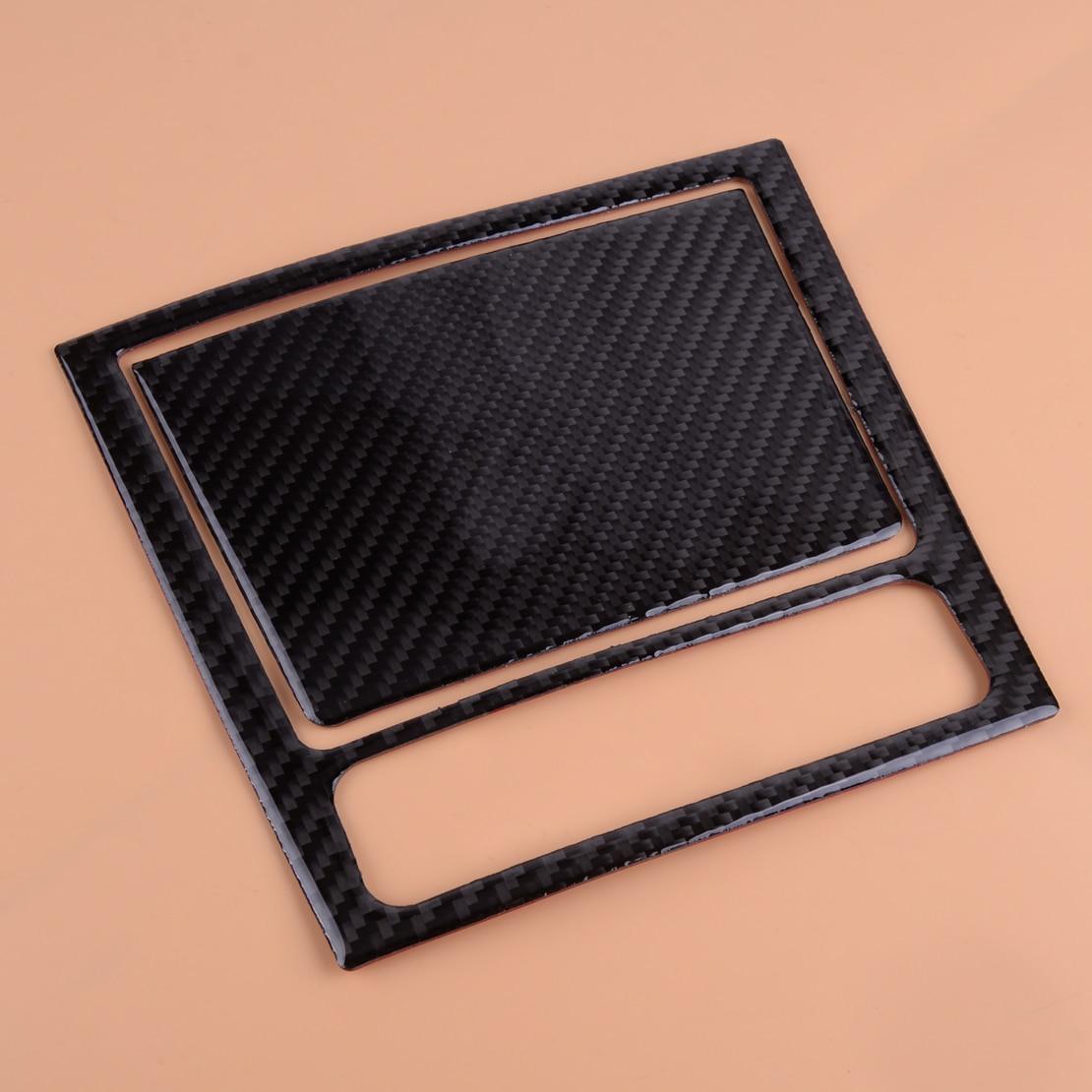 CITALL textura de fibra de carbono Centro frontal Cenicero de almacenamiento de la cubierta del Panel ajuste para VW Golf GTI 6 MK6