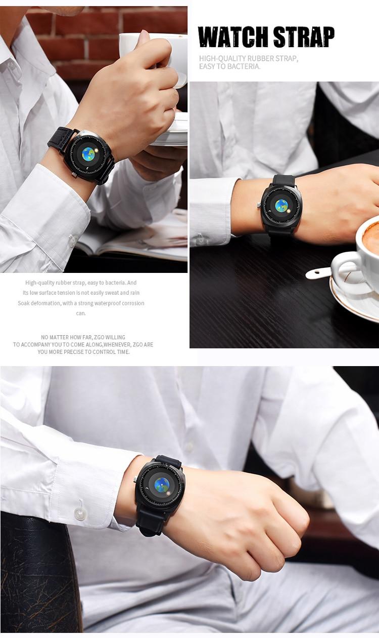 Time Zone Watch Concept Watch Creative Sun Earth Moon Watch Sport Quartz Wristwatch Men Women Fashion Clock Personality Watch