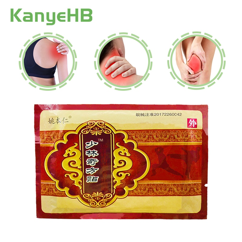 8pcs/bag Chinese Herbal Medical Capsicum Plaster Hot Muscle Fatigue Neck Backache Shoulder Joint Pain Patch Body Massager H011