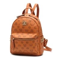 womens zipper large capacity leather backpack new korean fashion with all casual solid color 2021