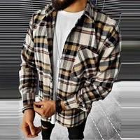 new mens shirts for men printed plaid woolen shirts for men shirts for men